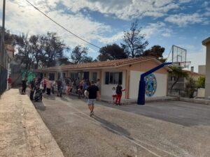 Το Νηπιαγωγείο & το Δημοτικό Σχολείο Βαρυμπόμπης, μετά την αποκατάστασή των ζημιών